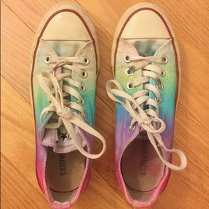 Size 7 converse tie dyed vintage one of a kind